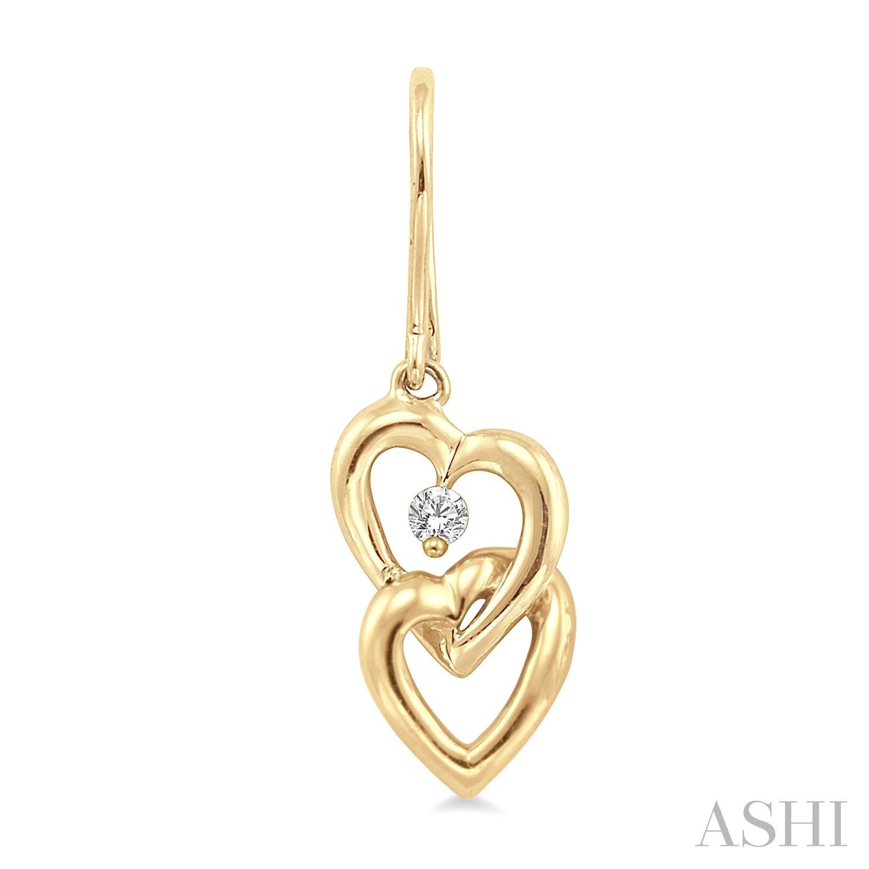 TWIN HEART DIAMOND EARRINGS