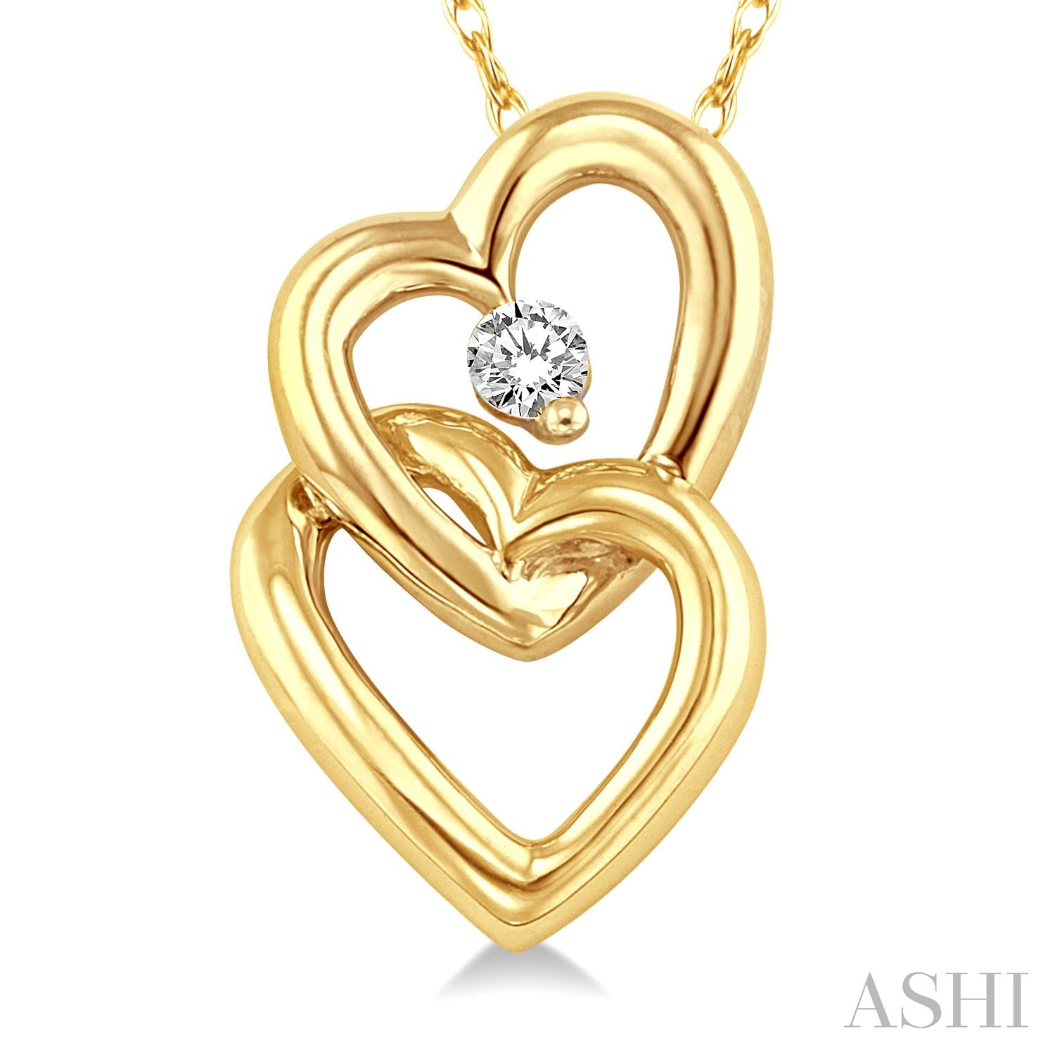 TWIN HEART DIAMOND PENDANT