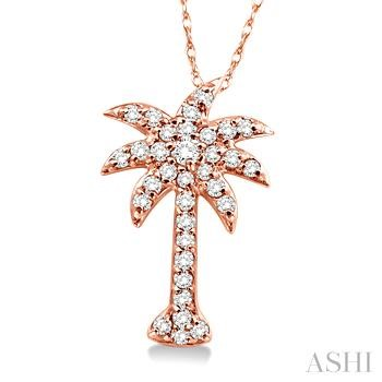 PALM TREE DIAMOND PENDANT