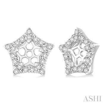 Star Shape Diamond Earrings Jacket