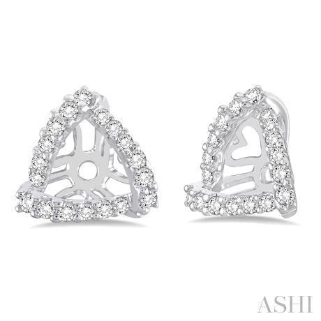 Triangle Shape Diamond Earrings Jacket