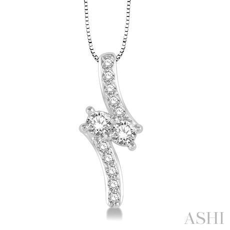 2Stone Diamond Pendant
