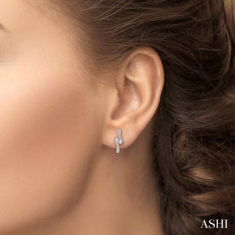 2Stone Diamond Earrings