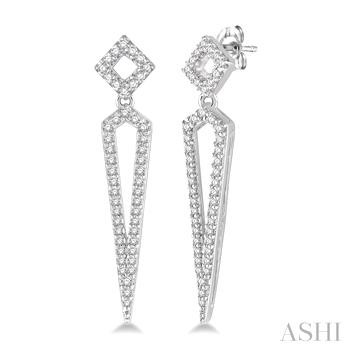 Diamond Long Earrings