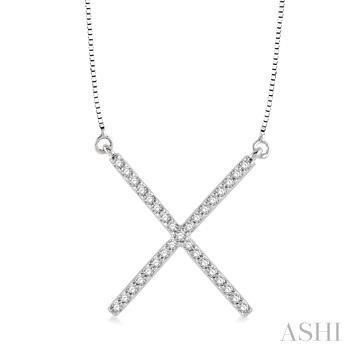 'X' Shape Diamond Pendant