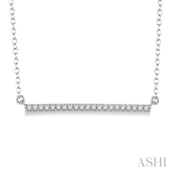 Horizontal Bar Diamond Pendant