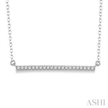 Horizontal Bar Diamond Pendant
