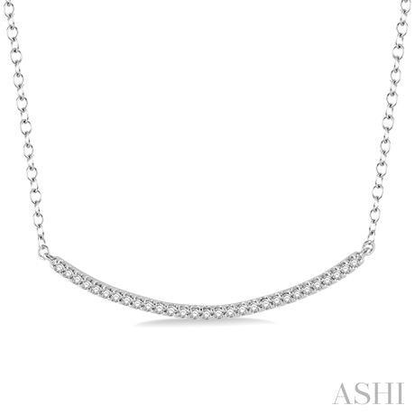 'U' Shape Diamond Pendant
