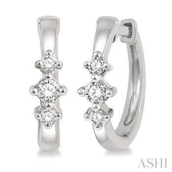 Diamond Huggies Earrings