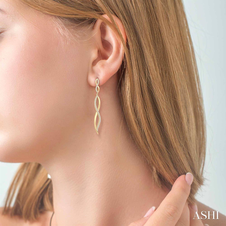 Diamond Fashion Long Earrings