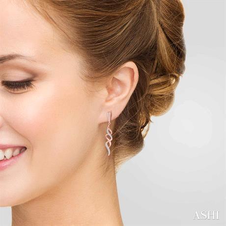 Diamond Ribbon Swirl Earrings