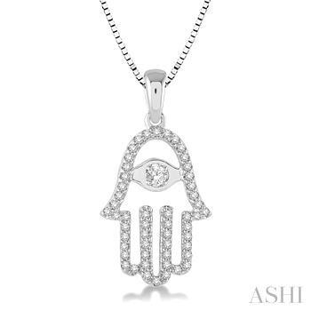 Diamond Hand Of God Pendant