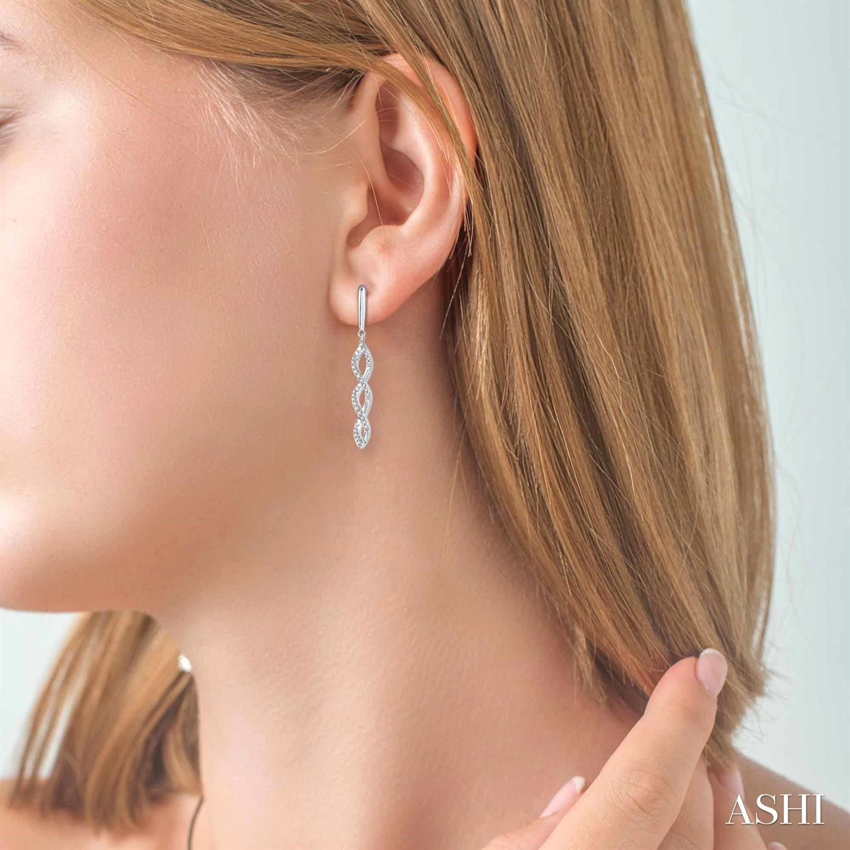 Diamond Swirl Fashion Earrings