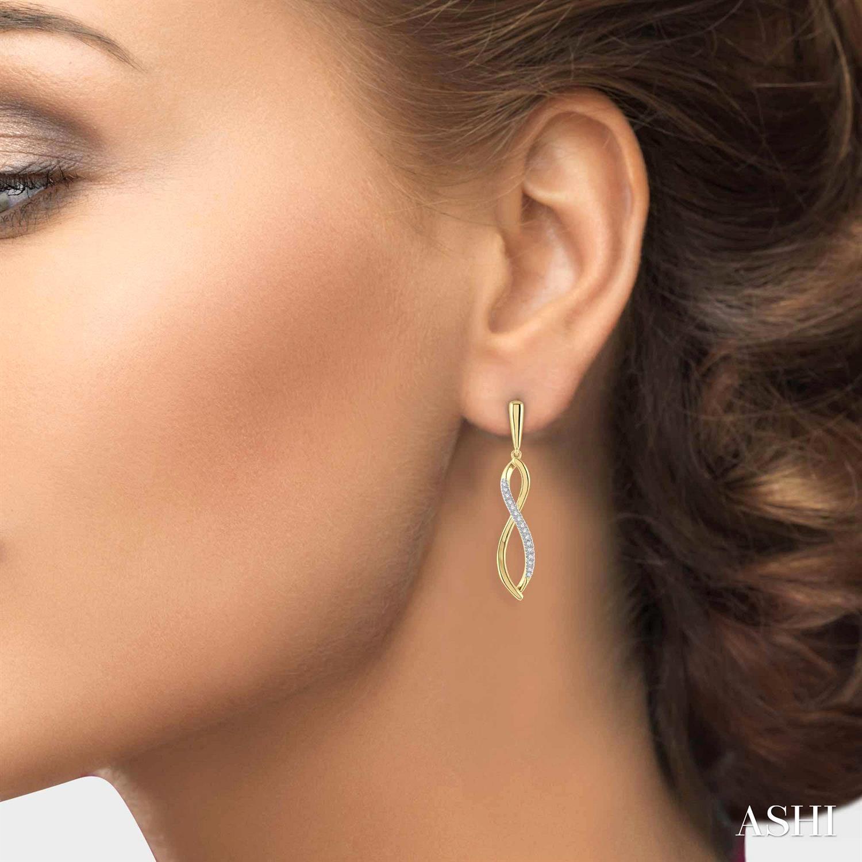 Diamond Infinity Earrings