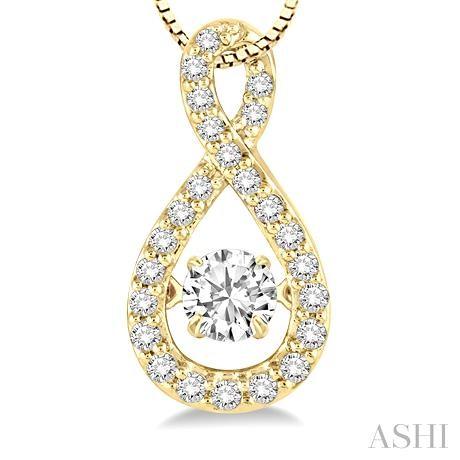 Pear Shape Emotion Diamond Pendant