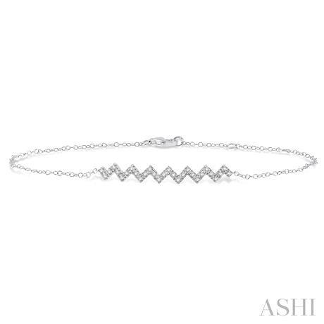 Zig Zag Diamond Chain Bracelet