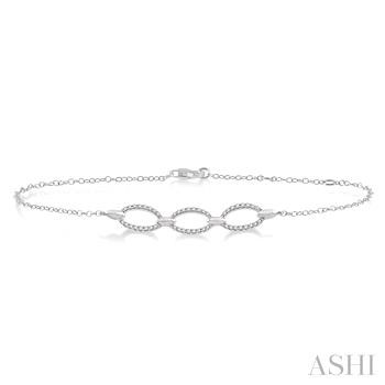 Oval Diamond Chain Bracelet