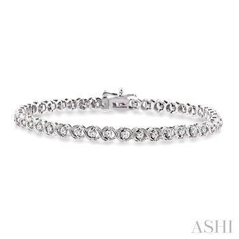 'X' & 'O' SHAPE DIAMOND BRACELET