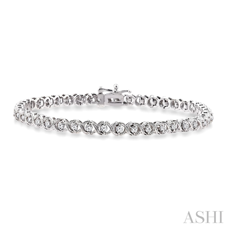 X & O Shape Diamond Bracelet