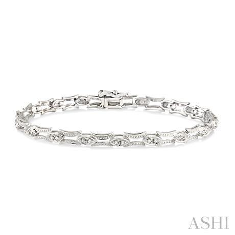 Marquise Link Diamond Bracelet