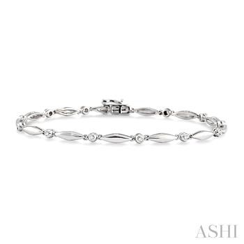 BOAT SHAPE DIAMOND BRACELET