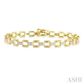 BAR LINK DIAMOND BRACELET