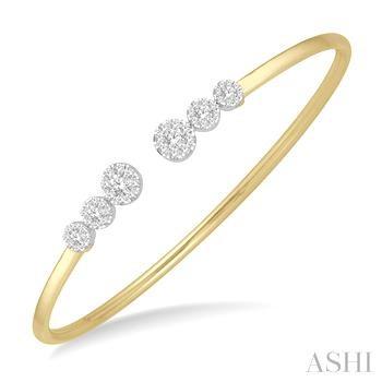 Lovebright Diamond Cuff Bangle
