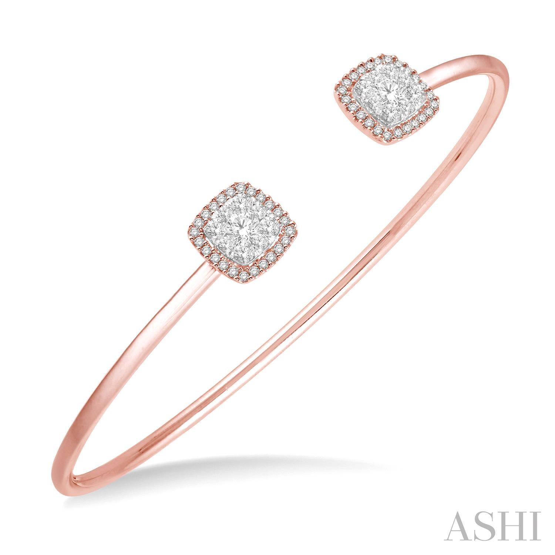 Lovebright Essential Cuff Open Diamond Bangle
