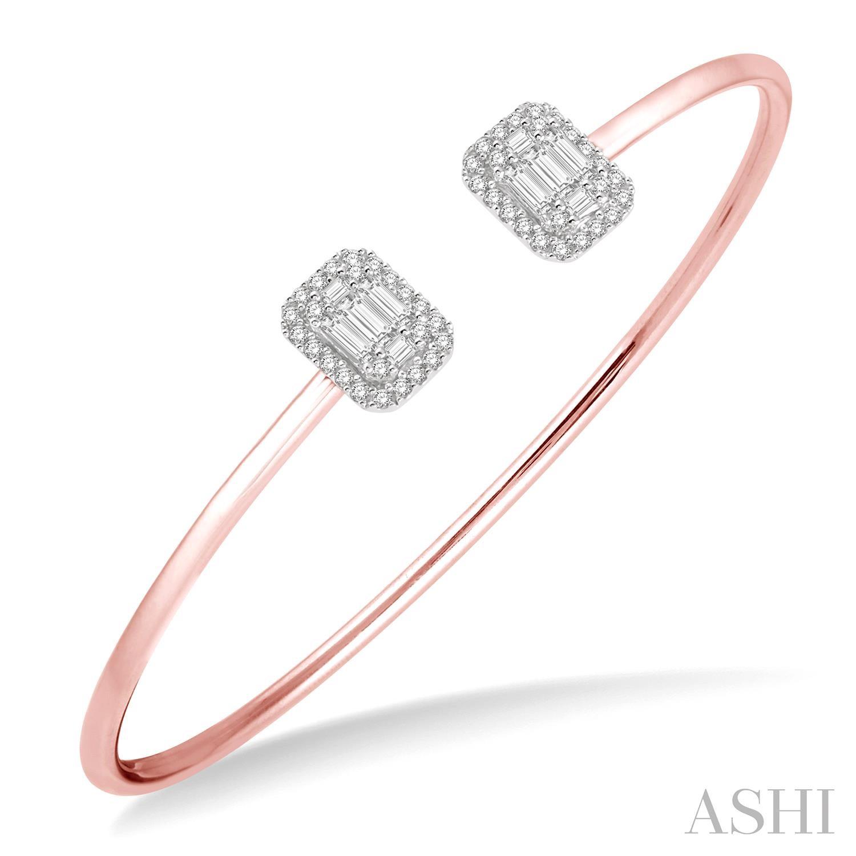 Fusion Diamond Open Cuff Bangle