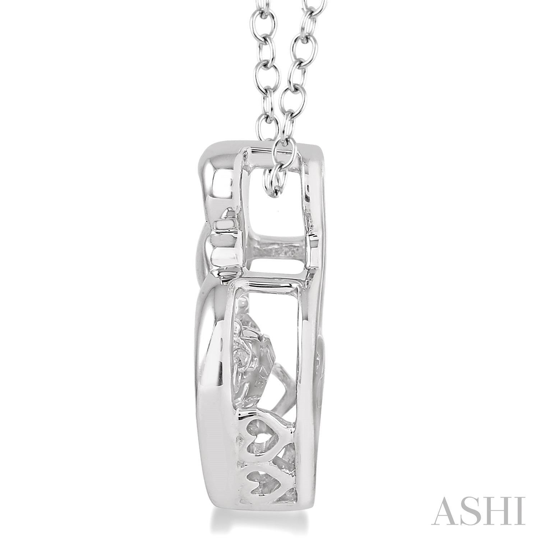 Silver Emotion Mom & Child Diamond Pendant