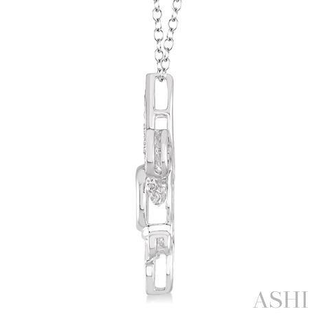 Silver Emotion Fleur De Lis Diamond Pendant