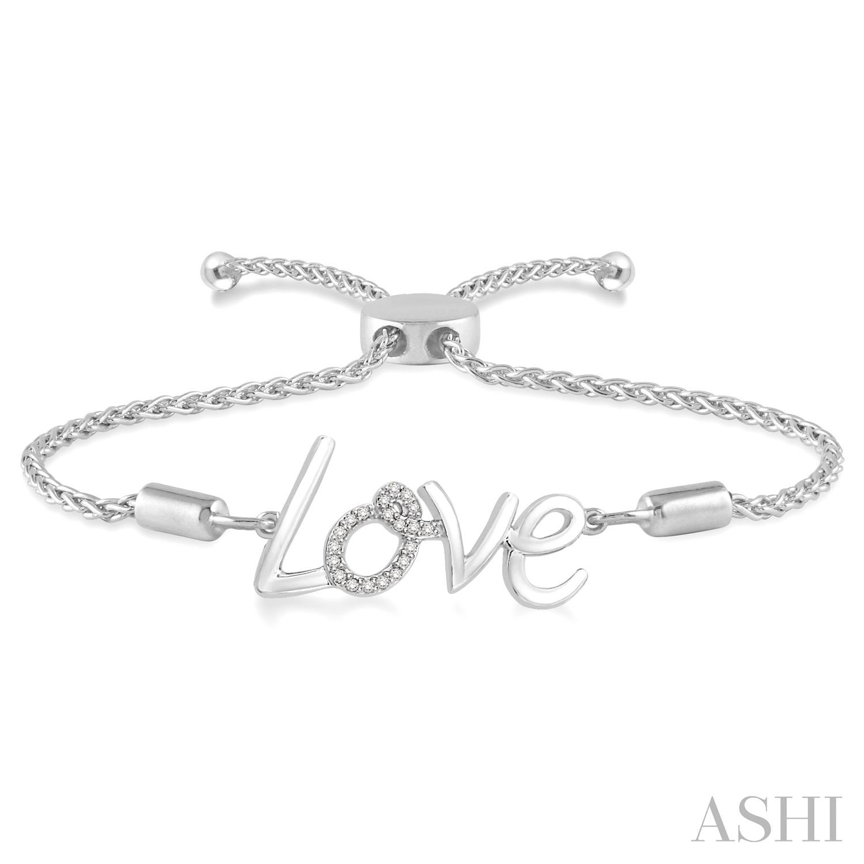 Silver Love Lariat Diamond Bracelet
