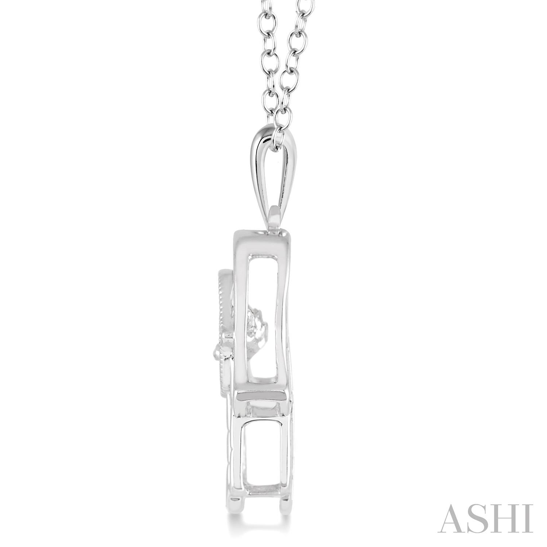 Silver Emotion Hand Of God Diamond Pendant