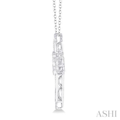 Silver Emotion Cross Diamond Pendant