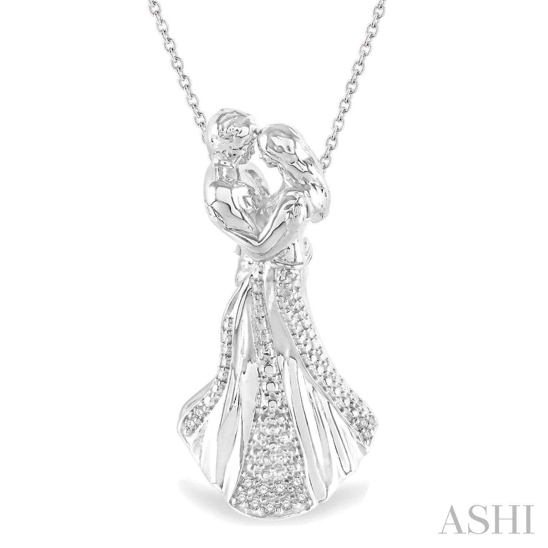 Silver Couple Diamond Pendant