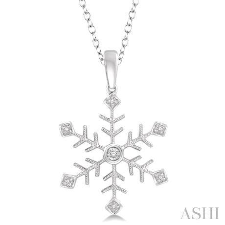 Snow Flake Diamond Pendant