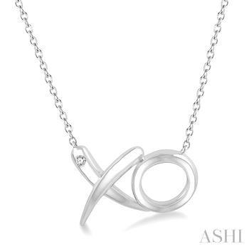 Silver Diamond Xo Fashion Pendant