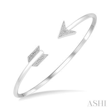 Silver Arrow Diamond Bangle