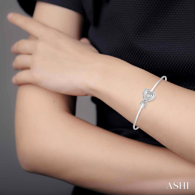 Diamond Heart Shape Flexi Bangle
