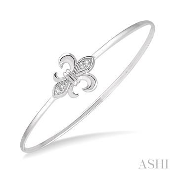 Diamond Fleur De Lis Flexi Bangle