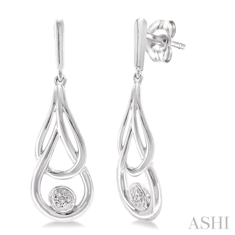 Silver Infinity Diamond Earrings