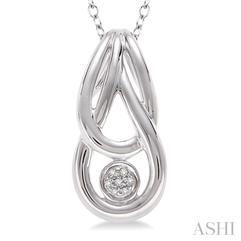 Silver Infinity Diamond Pendant