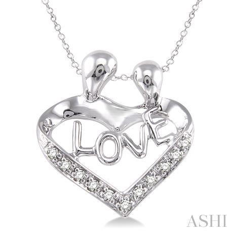 Silver Child & Mom Diamond Pendant