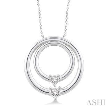 Silver Circle Diamond Pendant