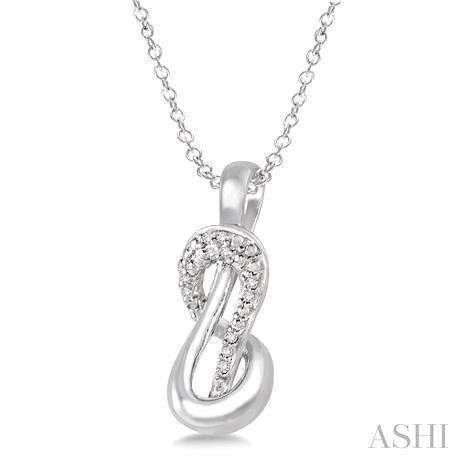 Silver Diamond Pendant