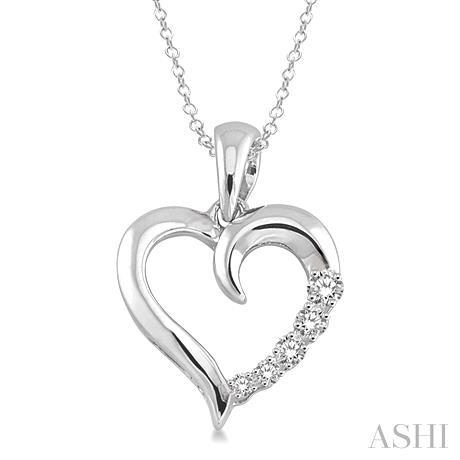 Silver Journey Heart Shape Diamond Pendant
