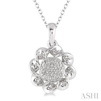 Silver Twisted Diamond Pendant