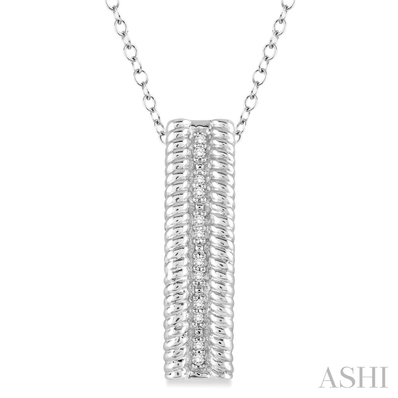 Silver Rope Diamond Pendant