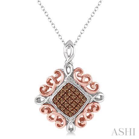 Silver Champagne Diamond Pendant