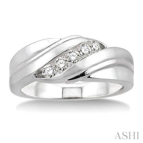 Silver Men'S Diamond Ring